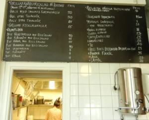 jin & peeters menu